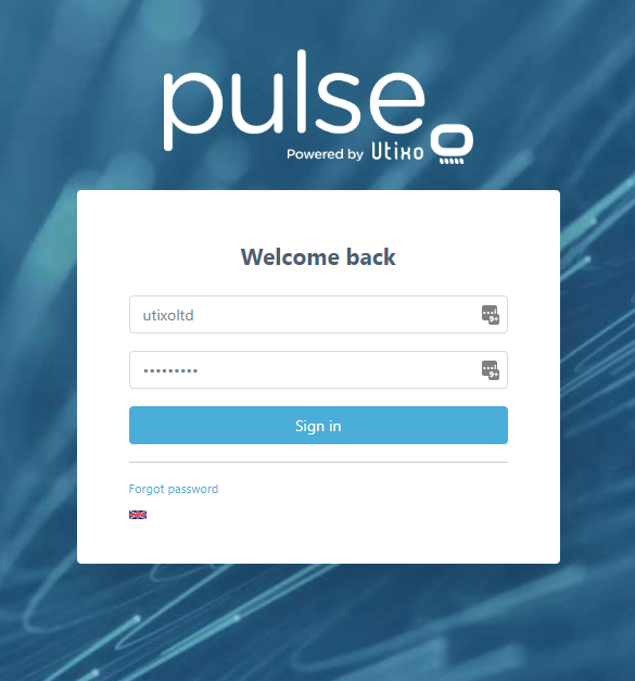 PulseMailer Login Screen