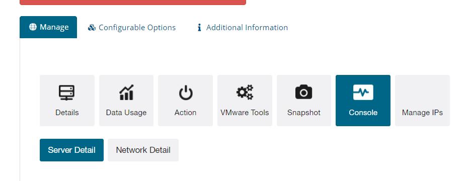 Accesso alla console VMWARE