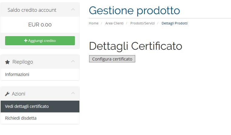 config-certificato